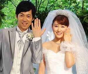 東貴博と安めぐみの結婚式の写真