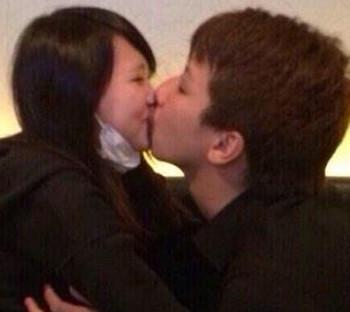NMB48植村梓と彼氏のチュー写真