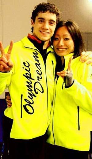 安藤美姫とハビエル・フェルナンデスツーショット写真 2010年頃