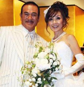 千葉真一と妻の写真