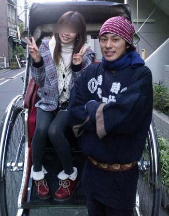 フジテレビの木村拓也アナが、時代屋の車夫時代の画像