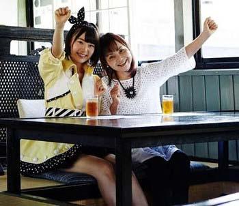 HKT48宮脇咲良と祖母の写真