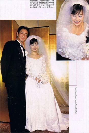 吉田栄作と平子理沙 結婚式ツーショット写真