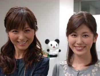 テレビ朝日同期入社の加藤真輝子アナと宇賀なつみアナのツーショット