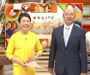 フジテレビ『直撃LIVE グッディ!』司会の安藤優子と高橋克実