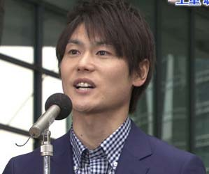 日本テレビの上重聡アナウンサー