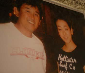 浅田真央選手と父親の敏治さん