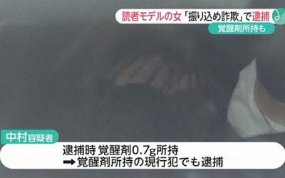 まりだぬきこと中村麻里奈容疑者の逮捕報道4枚目