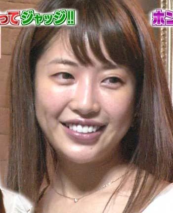 """""""くみっきー""""こと舟山久美子のカラコンありのスッピン顔2枚目"""