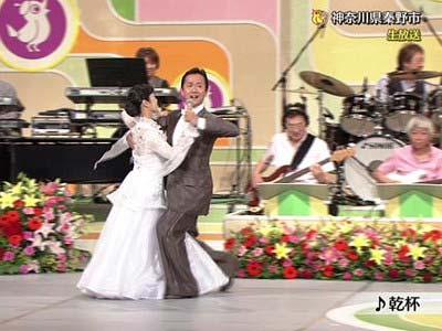 NHKのど自慢に出演した社交ダンスペア