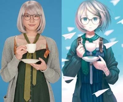 実写ドラマ『掟上今日子の備忘録』での新垣結衣のビジュアルと原作比較
