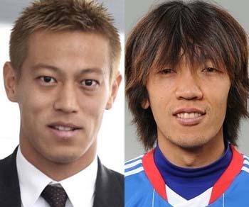 本田圭佑選手と中村俊輔選手