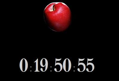 映画版『デスノート』公式サイトで表示のカウントダウン