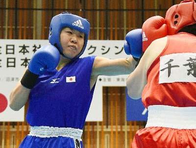 南キャンしずちゃんのボクシング試合画像