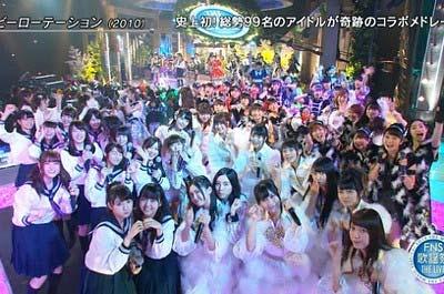 2015FNS歌謡祭のアイドルコラボ