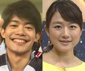 フィギュアスケート男子・小塚崇彦選手とフジテレビ大島由香里アナウンサー
