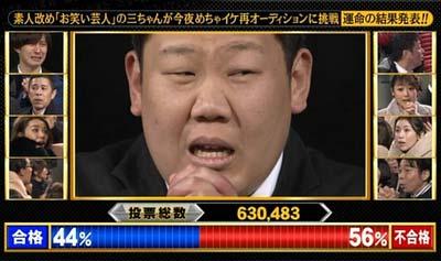 """めちゃ×2イケてるッ!卒業が決定した""""三ちゃん""""三中元克1枚目"""