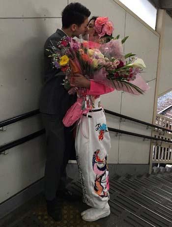ハコイリムスメ樋井紅陽と彼氏のキス写真