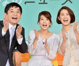 フジテレビ『みんなのニュース』出演の伊藤利尋アナ、生野陽子アナ、椿原慶子アナ