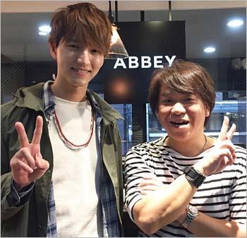 田口淳之介とABBEYのスタイリスト・松永英樹