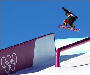 スノーボードのスロープスタイル