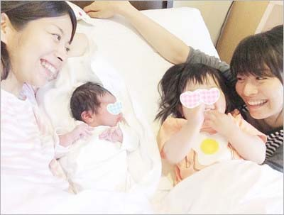 三倉佳奈の長男と長女&姉の茉奈