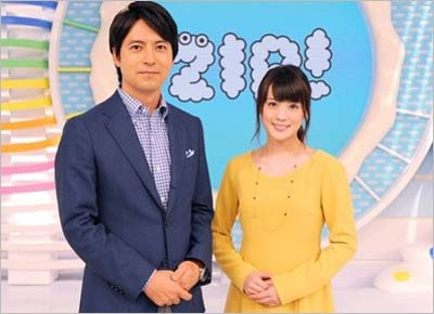 日本テレビ系の『ZIP!』(MCの桝太一アナウンサー、北乃きい)