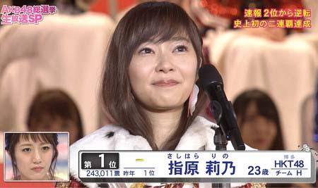 『第8回選抜総選挙』で1位を獲得したHKT48の指原莉乃
