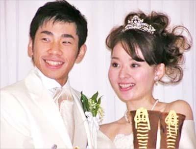 織田信成と妻・茉由の結婚式の写真