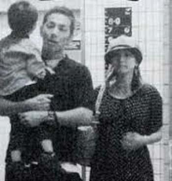 岡沢高宏と広末涼子、長男の写真