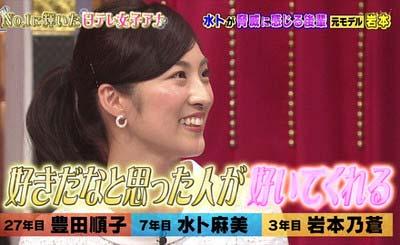 日本テレビの岩本乃蒼が好きな人が自分のことを好きになるとモテ女アピール