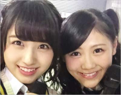 大和田南那と西野未姫のツーショット写真