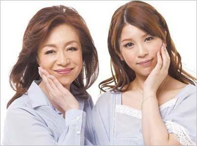 坂口良子と坂口杏里のツーショット写真
