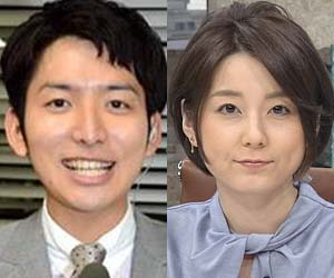 生田竜聖アナと秋元優里アナ