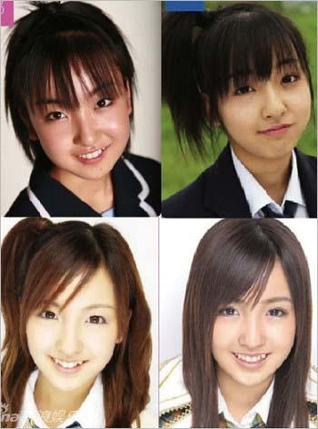 板野友美の顔が進化する過程1