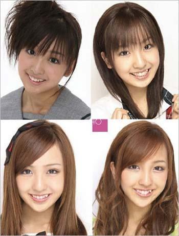 板野友美の顔が進化する過程2枚目