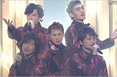 『第66回NHK紅白歌合戦』に出場したSMAPのメンバー