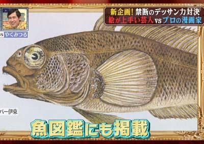 エスパー伊東が描いた魚の絵