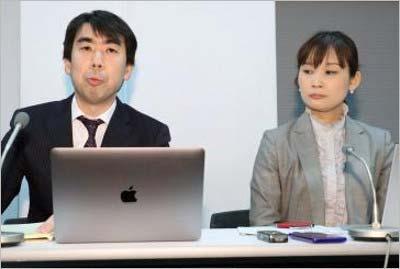 清水の出家騒動について見解を示す所属事務所の顧問弁護士の山縣敦彦氏(左)と塩川泰子氏