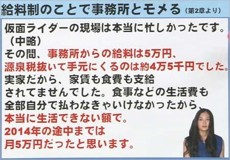 清水富美加が告白した2011~2012年頃の月給