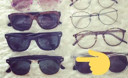 太田希望が持つサングラス