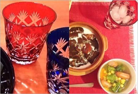 小山慶一郎と太田希望の江戸切子グラス