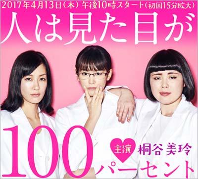桐谷美玲が主演のフジテレビドラマ『人は見た目が100パーセント』