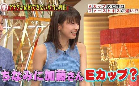 12日放送の『ホンマでっか!?TV』で加藤綾子の胸のサイズに言及していたシーン3枚目