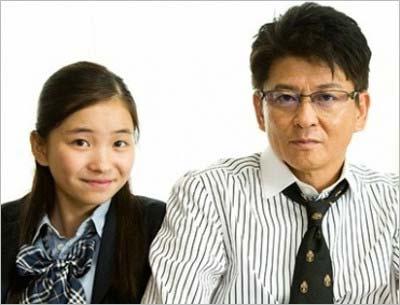 哀川翔と次女・福地桃子がドラマ初共演した際のツーショット