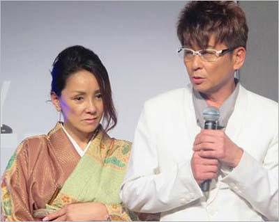 哀川翔と妻・青地公美のツーショット