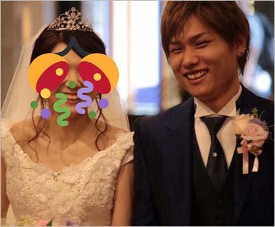後藤泰観と嫁・はるかの結婚式ツーショット