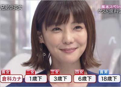 2017年6月18日放送の『おしゃれイズム』に出演した倉科カナ