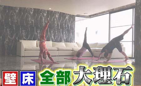 7月5日放送の『今夜くらべてみました』出演の浜崎あゆみが公開した床や壁が大理石の部屋