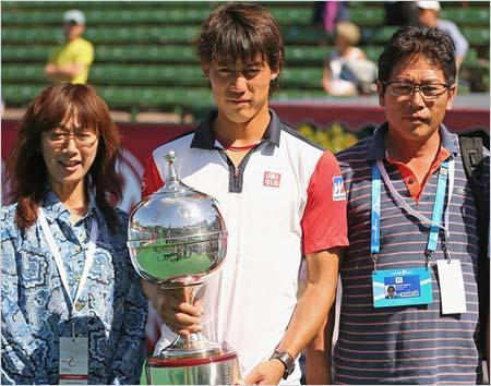 錦織圭選手と両親
